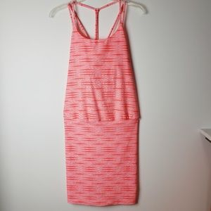 Athleta Strappy Bright Orange Dress Size S